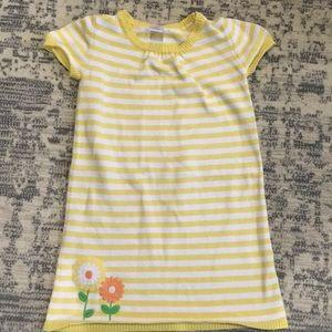 Gymboree yellow short sleeve sweater dress
